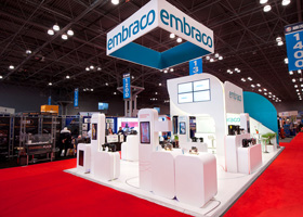 Double Deck Exhibit - Embraco at AHR trade show 2015