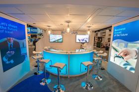 Double Deck Exhibit - Amadeus at GBTA trade show 2015