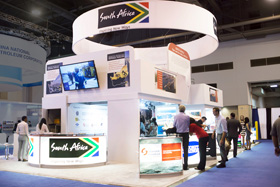 Double Deck Exhibit - South Africa at OTC trade show 2015