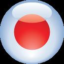 japan flag, circular icon