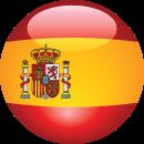 spain flag, circular icon