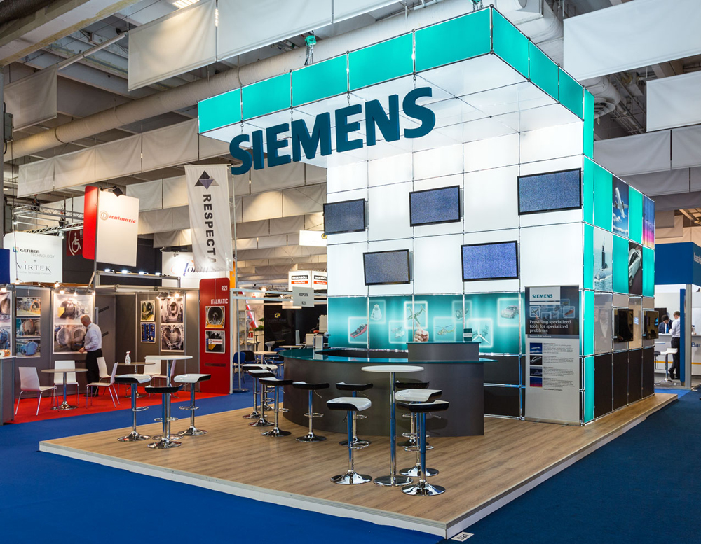 Siemens trade show displays trade show booth for Trade exhibition
