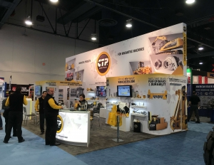 The Costex Tractor Parts fabric booth at CONEXPO-CON/AGG 2017 (1 of 4).