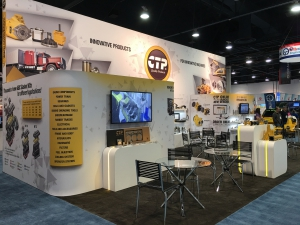The Costex Tractor Parts fabric booth at CONEXPO-CON/AGG 2017 (2 of 4).