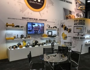 The Costex Tractor Parts fabric booth at CONEXPO-CON/AGG 2017 (3 of 4).
