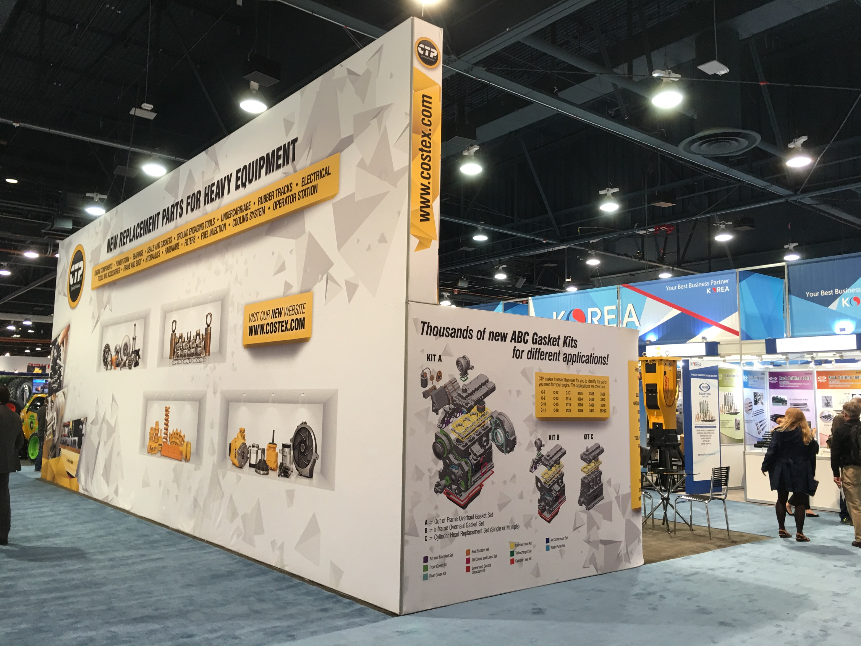 The Costex Tractor Parts fabric booth at CONEXPO-CON/AGG 2017 (4 of 4).