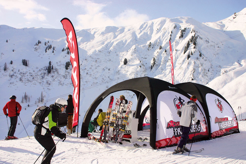 Outdoor Event in Snow Environment