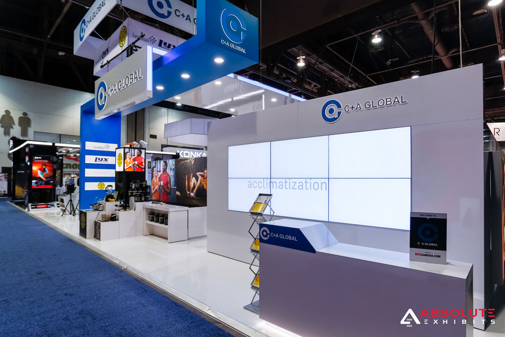 C+A Global - Reception Desk and Video Wall Display