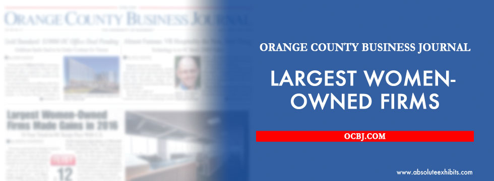 Absolute exhibits makes the ocbj s list of largest women for Architecture firms orange county