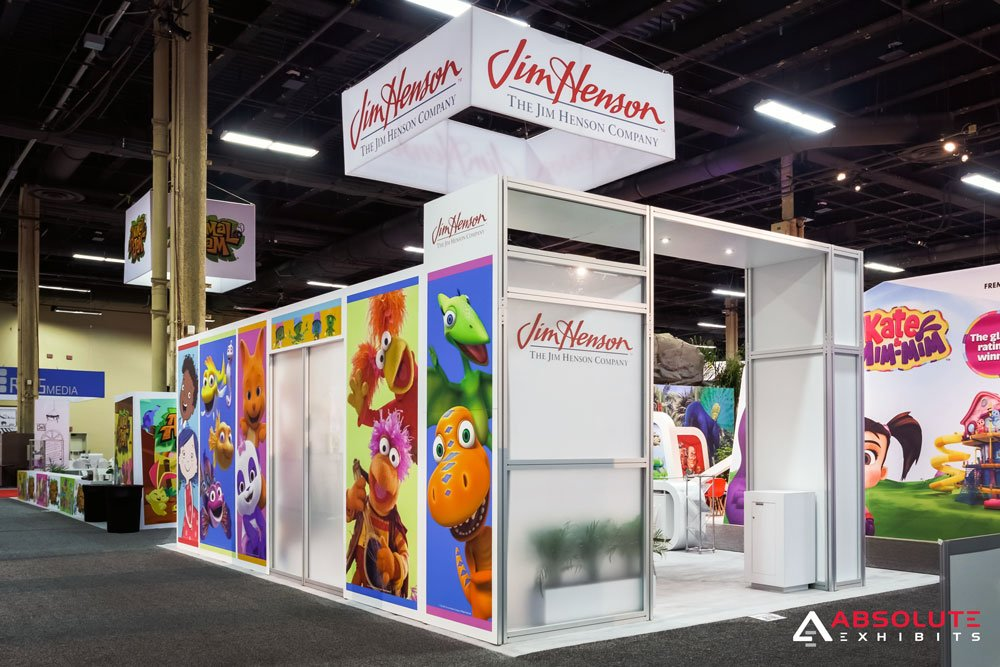 the jim henson company, trade show booth, licensing expo