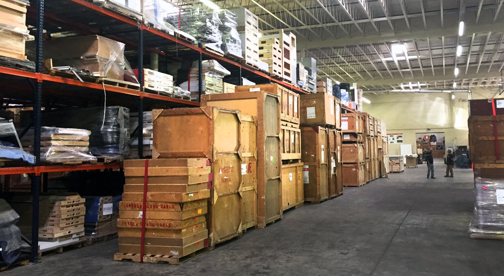 booth storage, warehouse