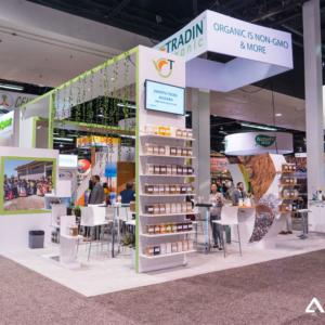 tradin organic, trade show booth, npew