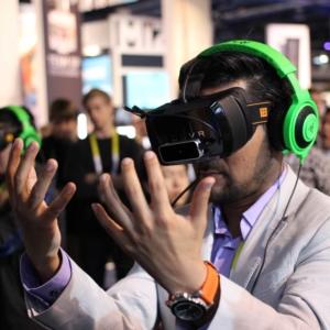 virtual reality, vr, demo, trade show
