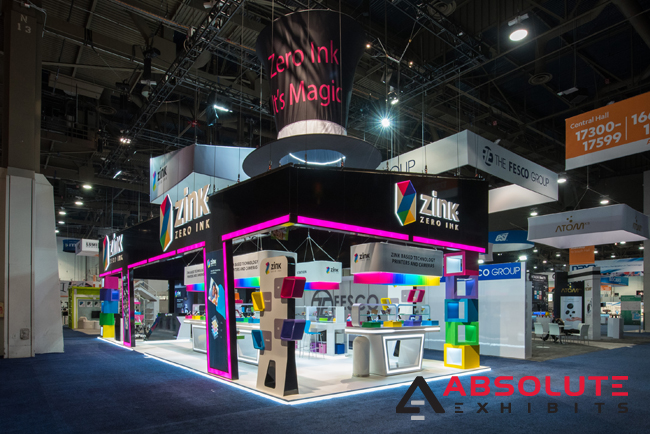Zink CES booth Absolute Exhibits