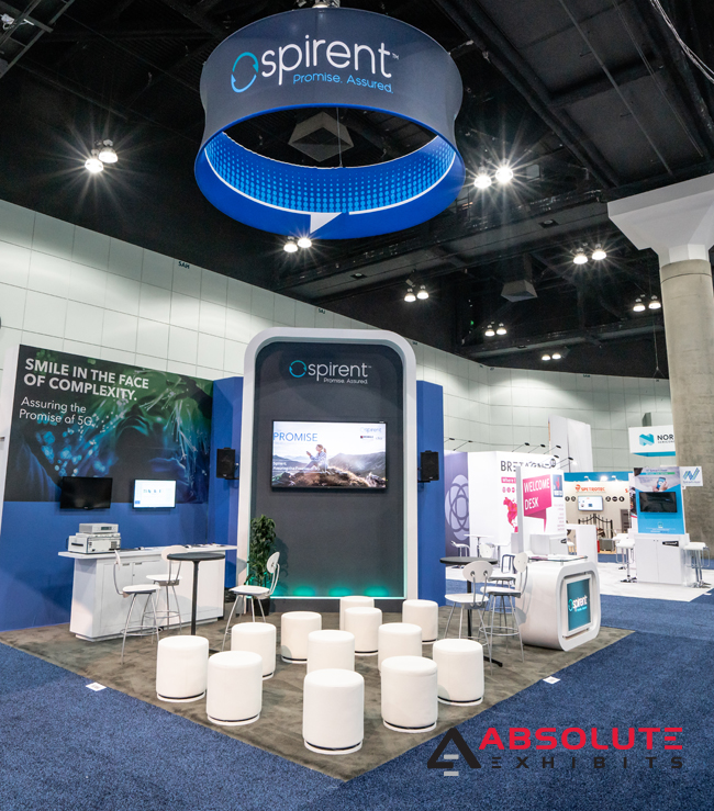 Spirent trade show booth design