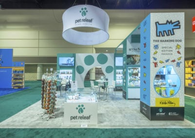 Pet Releaf trade show exhibit
