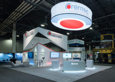 Corentec trade show exhibit