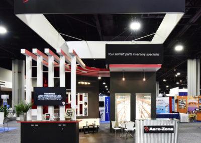 Aero-Zone trade show booth