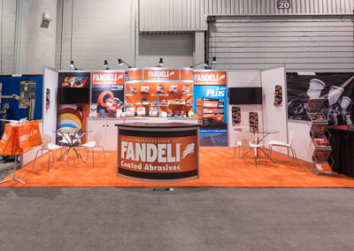 Fandeli trade shpw exhibit