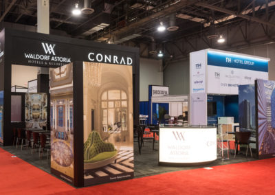 Hilton Luxury trade show booth