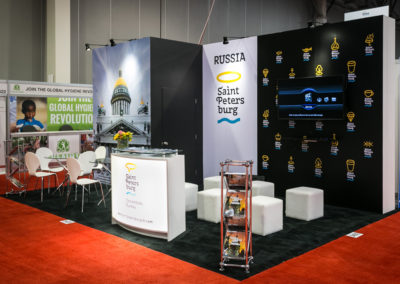 Restec trade show display