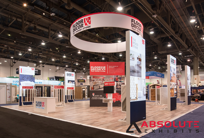 trade show display design flooring