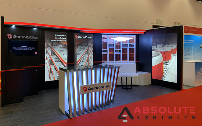 Aerozone trade show branding exhibit