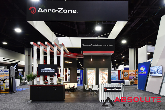 Aerozone trade show branding Absolute Exhibits
