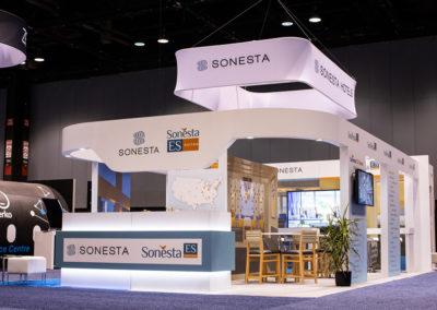 Sonesta trade show booth