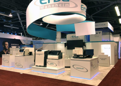Erba Diagnostics trade show exhibit