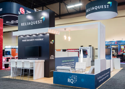 Reliaquest trade show exhibit