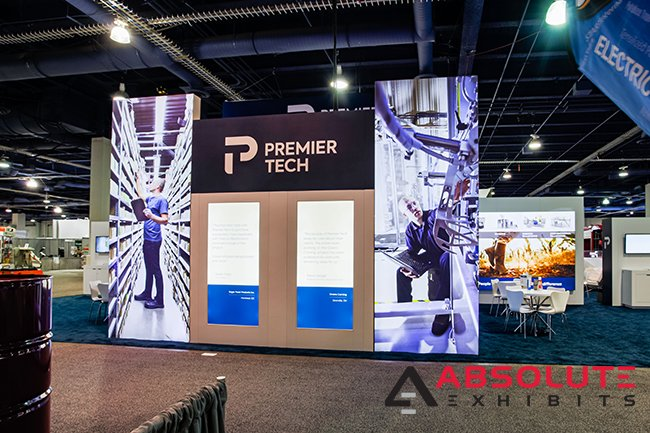 Premiertech wrapped exhibit design custom trade show messaging