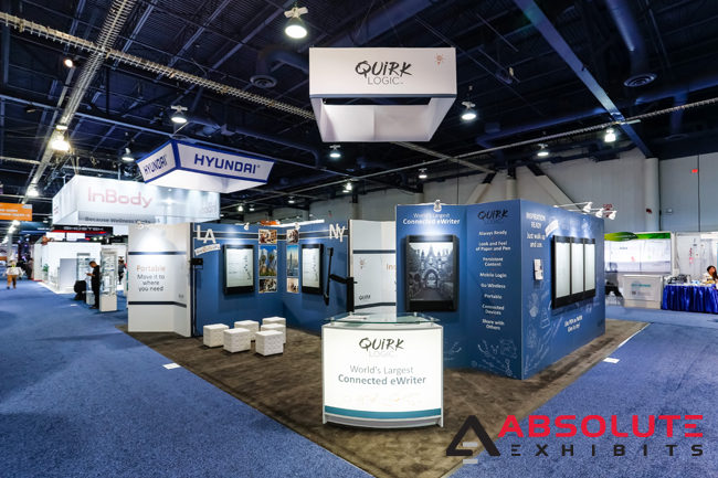 Quirk Logic technology trade show booth