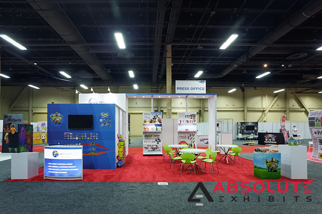multiple brand story PPI trade show exhibit