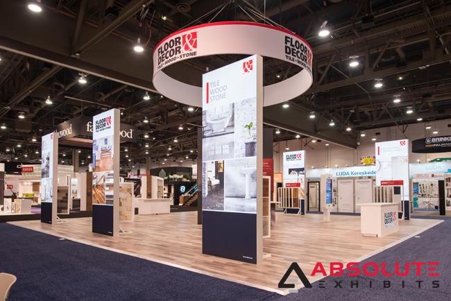 trade show exhibit design flooring options