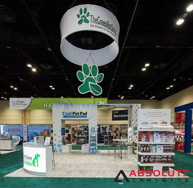 20x20 trade show booth design space