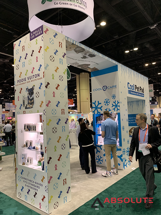 brand strategy with customer retention and trade show displays