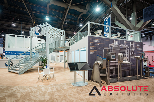 trade show exhibit design with machinery