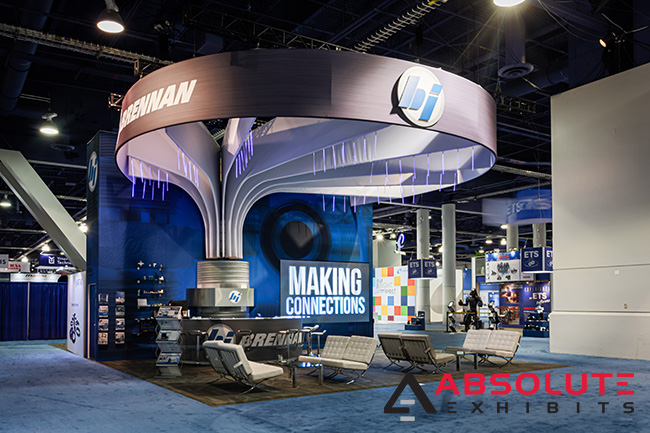 Brennan Industries custom trade show exhibit by Absolute Exhibits